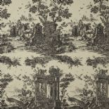 Fontainebleau Fabric Paon Reina Lin FONT81779103 or FONT 8177 91 03 By Casadeco